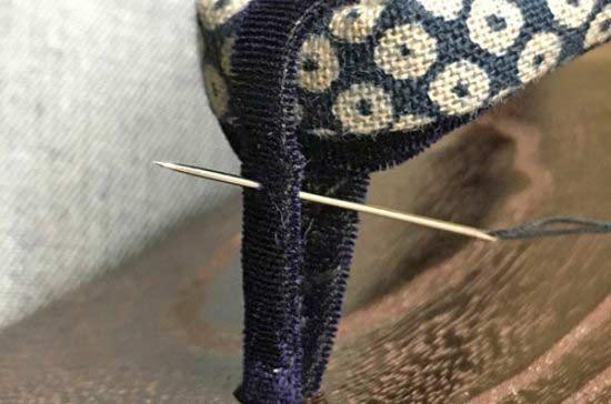前坪の縫い方の手順を紹介します
